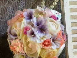 101-270x203 זר כלה - כדור פרחים בצבעי פסטל
