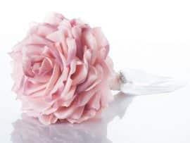 181-270x203 זר כלה - ורד ורוד ולב קריסטל