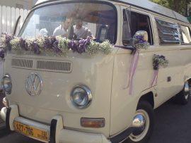 1A3-270x203 קישוט לרכב חתן כלה מפרחים בגווני סגול ולבן