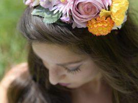 DSC5426-270x203 קשת לשיער מתפרחות של מגוון פרחים צבעוניים