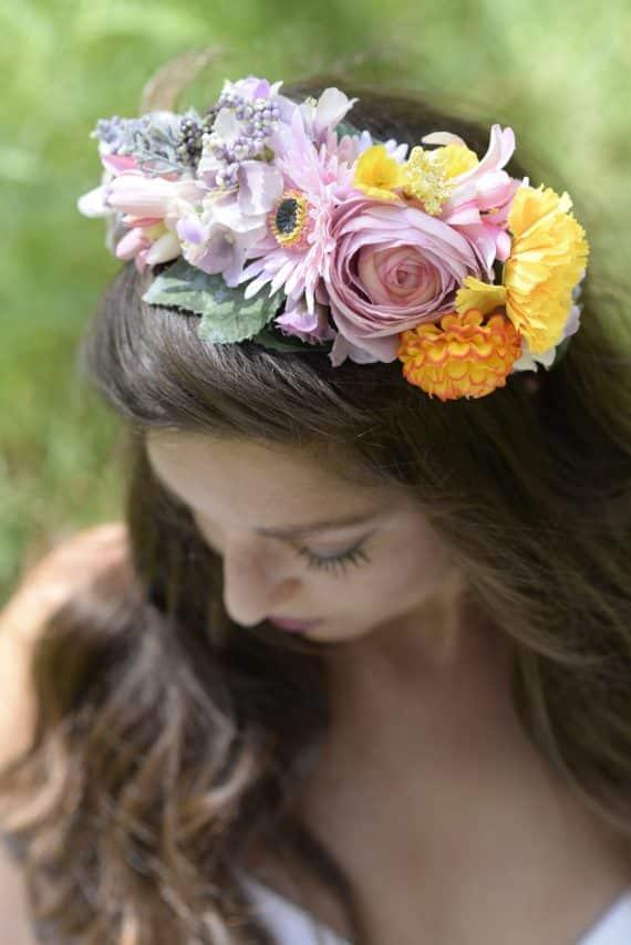 DSC5426-570x854 קשת לשיער מתפרחות של מגוון פרחים צבעוניים