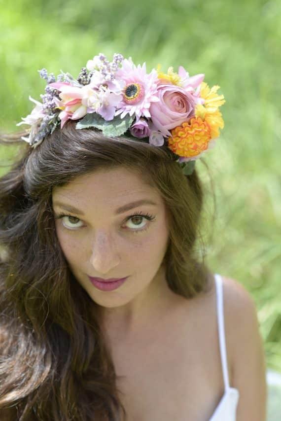 DSC5466-570x854 קשת לשיער מתפרחות של מגוון פרחים צבעוניים