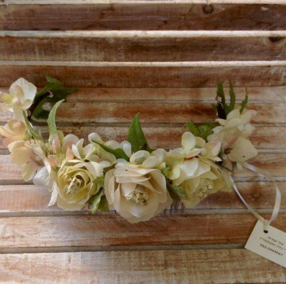 unnamed-6-570x566 סיכת פרחים לשיער בגווני לבן וורוד